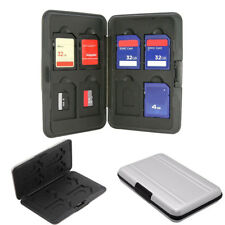 Aluminum 16 in 1 Micro SD SDXC Memory Card Storage Carry Case Holder Protector