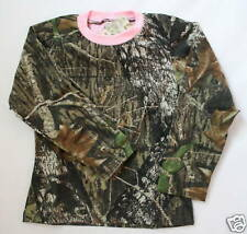 MOSSY OAK CAMO CAMOUFLAGE & PINK GIRLS SHIRT - YOUTH KIDS CAMO CLOTHES