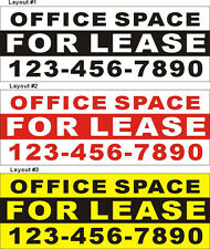 3ftX8ft Custom Printed OFFICE SPACE FOR LEASE Banner Sign with Your Phone Number