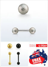 316L Steel Barbell 16g with Patterned Ball Body Piercing Eyebrow Ear Nipple 1pc