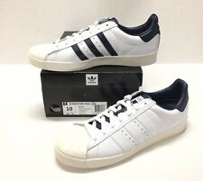 ADIDAS SUPERSTAR VULC ADV SKATE SHOE  #B27392 WHITE / WHITE / NAVY *NEW*
