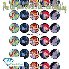 Little Mermaid Edible Cupcake Toppers 35mm Wafer Birthday Cake Decorating Kids