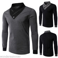 Mens Casual Slim Fitted Turtleneck Knitted Knitwear Pullover Jumper Sweater Tops