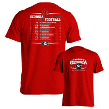 University of Georgia Bulldogs UGA 2017 Football Schedule Red Adult T-Shirt