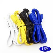 1.5M HDMI To HDMI Male Cable 3D v1.4 HD TV Flat Noodle AV Audio Video PS3/XBOX