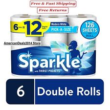 Sparkle Giant Paper Towels 8 Rolls or 24 Rolls, Pick-A-Size, White - New