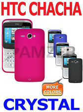 AMZER Rubberized Crystal Snap On Shell Hard Case Cover For HTC ChaCha Status