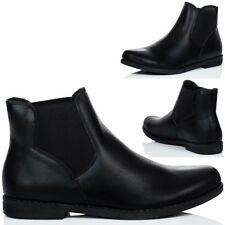 Womens Flat Chelsea Ankle Boots Sz 5-10