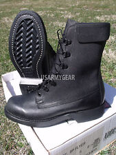 NEW MILITARY ARMY PILOT USAF ADDISON FWU-8/P LINED FLYER'S BLACK LEATHER BOOTS
