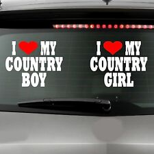 I LOVE MY COUNTRY GIRL BOY Rebel Redneck Marriage Custom Car Truck Graphic
