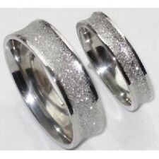 his or hers 6MM OR 4MM SPARKLE WEDDING RING BAND STR185 stainless steel ring