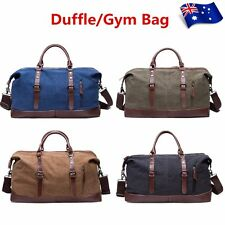 Men Large Sport Canvas Duffle Bag Shoulder Overnight Weekend Gym Travel Tote Bag