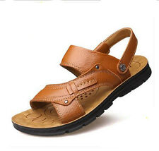 new latest summer fashion men's leather sandals, open-toed sandals slippers