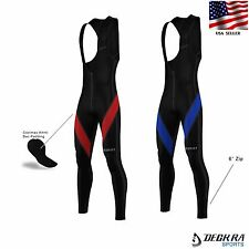 Deckra Mens Cycling Bib Tights Padded Roubaix Thermal Winter Bike Tights