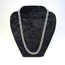 Silver Byzantine Chainmaille Necklace
