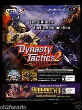 Original 2003 Print Ad Dynasty Tactics 2  Video Game Advertisement