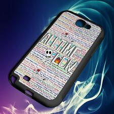 New ALL TIME LOW WRITTIN For Samsung Galaxy Note 2 3 4 5 Case Cover