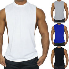 Mens Summer Gym Training Muscle Fitted Vest Tee Sleeveless T-Shirts Tank Tops
