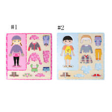 10Pcs 30cm Dress Up Puzzle Wooden Peg Jigsaw Puzzles Toddler Wooden Toy Gift