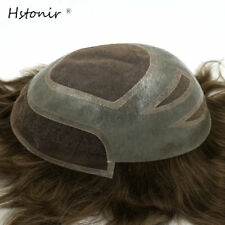 Mono Swiss PU Toupee 8x10 inch Indian Hair Men Hair Piece Replacement System