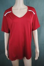 Charmance ladies Vneck top/dress red/blue with diamonties sizes 16-30/32