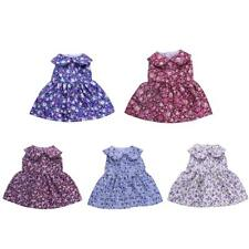 Floral Pattern Sleeveless Skirt Dress Outfit Clothes Fit 18'' American Girl Doll