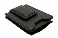 Mens Money Clip Wallet Magnetic Expandable Pocket ID Slot Genuine Leather New