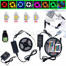 5M SMD 3528/5050/5630/7020 White/RGB 300LEDs LED Strip Lights 12V Adapter 44 Key