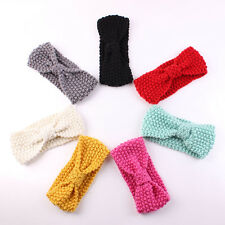 Cute Baby Bow Crochet Head Wrap Ear Warmer Hair Band Turban Headband Knit