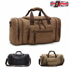 Mens Canvas Handbag Holdall Gym Duffle Bag Messenger Travel Weekend Luggage Bag