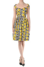 MOSCHINO COUTURE New Woman Multicolor Sleeveless Printed Dress Made in Italy