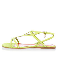 DSQUARED2 New Woman Suede Flat Sandal Original Made in Italy