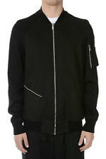 RICK OWENS new men black Leather Lamb jacket Made in Italy NWT