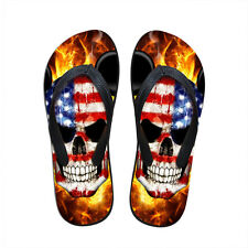 3D PUNK Skull Print Summer Slippers For Men Casual Shoes Men's Beach Flip Flops