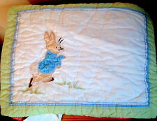 Pottery Barn Kids Peter Rabbit Quilted Sham New READ