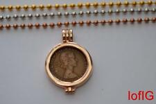 UK Half Penny Coin+Necklace+Pendant Holder.Your Lucky Birth Year Coin 1967-1933