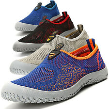 Mens Slip-On mesh boat shoes Casual Sport Loafers Walking gym travel Sneakers