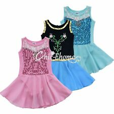 Girl Kid Ballet Dance Party Dress Princess Gymnastics Leotard Tutu Skirt Costume