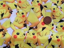 POKEMON PIKACHU Inspired Poly/Cotton Fabric FQ OR 0.5 MTR X 143CM WIDE  Free P&P