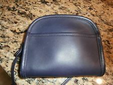 COACH PURPLE LEATHER SMALL HANDBAG-PURSE ZIPPER TOP SHOULDER