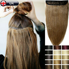 """5A Luxury One Piece Clip in Remy Real Human Hair Extensions 16""""18""""20""""22"""" UK N681"""