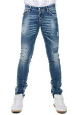 DSQUARED2 New Man Blue Denim Jeans Pants Made in Italy Original NWT