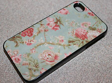 Custom Floral VTG Pretty Pattern Vintage apple iphone 4 4s 5 5s case cover back