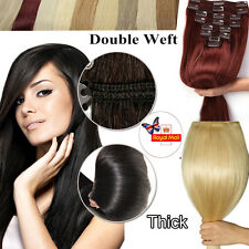 Clip In Human Hair Extension Thick Double Weft Full Head Real Remy Long 22 MM332