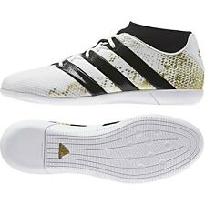 adidas Men's Ace 16.3 Primemesh Indoor Soccer Shoes (White/Gold) AQ3422*