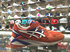 ASICS  SHOES GEL KAYANO TRAINER RUNNING SNEAKERS SIZE 9.5 ORANGE  WT GREY BLUE