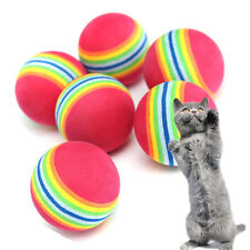 3/6/9pcs Colorful Pet Cat Dog Kitten Soft Foam Rainbow Play Balls Toys Funny A