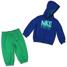 Nike Children Baby Tracksuit Sports Suit Jogging Trousers + Jacket Green Blue