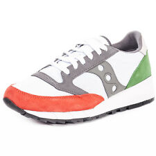 Saucony Jazz 91 Mens Trainers White Red Green New Shoes