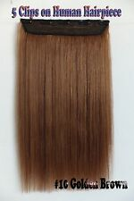 Golden Brown 16''~26'' 5Clips One Hairpieces Clip In Real Human Hair Extensions